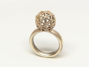 Geodesic Dome Ring size 7.5 in Matte Bronze Steel