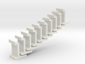 H0 platform wall / perronwand 1:87 10pc in White Strong & Flexible
