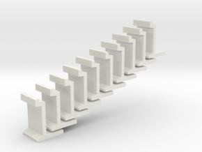 H0 platform wall / perronwand 1:87 10pc in White Natural Versatile Plastic