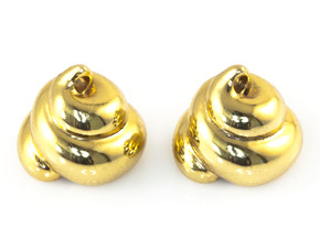 Lucky Golden Poo Earrings in 18K Gold Plated