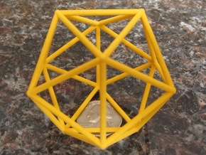 Icosahedron (100 cc) in Yellow Strong & Flexible Polished
