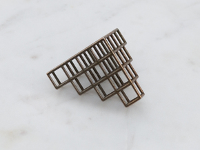 Tetris Pendant in Polished Bronze Steel