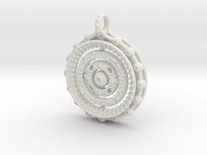 Gyroscope Mandala in White Natural Versatile Plastic