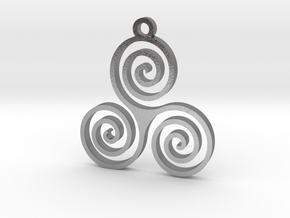 Triple Spiral (Triskele) - Sacred Geometry in Natural Silver