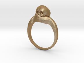 150109 Skull Ring 1 Size 9  in Matte Gold Steel