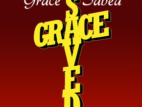 Saved By Grace in Polished Gold Steel