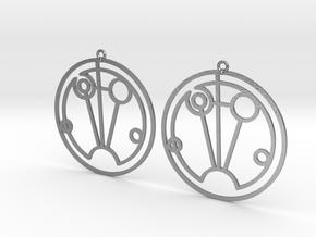 Sophie - Earrings - Series 1 in Natural Silver