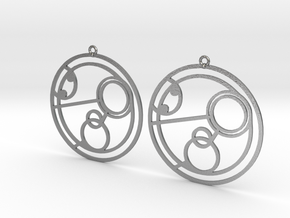 Poppy - Earrings - Series 1 in Raw Silver