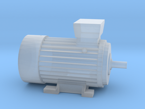 Electric Motor Size 1 in Smooth Fine Detail Plastic