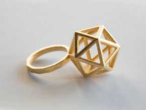 ico RING in Polished Gold Steel: 8.5 / 58