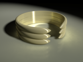 Open Banded Ring in Stainless Steel