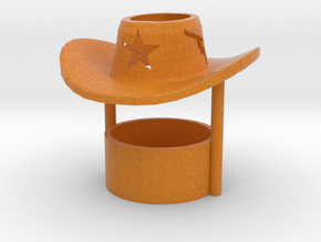 Tealight candle holder Cowboy Hat in Full Color Sandstone