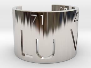 Nerd Love Ring, Periodic Table Ring in Platinum