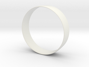 4 inch Airfoil Ring Fin in White Natural Versatile Plastic