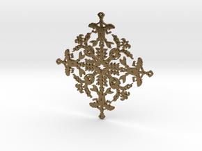 Mermaid Snowflake in Natural Bronze