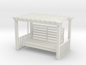 Pergola Swing in White Natural Versatile Plastic
