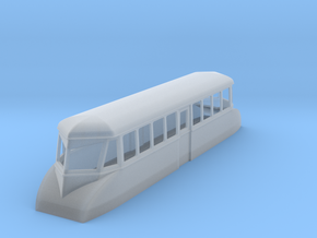 """009 bogie """"Flying Banana"""" railcar  in Frosted Ultra Detail"""