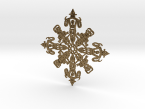 Robot Snowflake in Natural Bronze