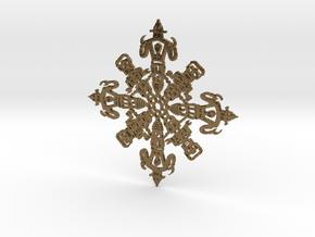 Robot Snowflake in Natural Bronze