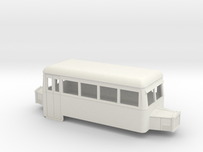 009 cheap & easy double ended railcar with bonnets in White Natural Versatile Plastic