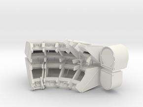 1-16 T55 ENIGMA TURRET Shields in White Natural Versatile Plastic
