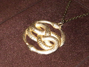 3D-Printed AURYN Medallion in Polished Bronze Steel