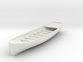 Osage/Neosho 28 ft Longboat. 1/4 Scale in White Natural Versatile Plastic