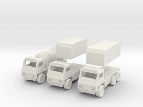 Truck [3 Pack] in White Natural Versatile Plastic