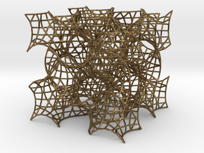 Gyroid Mesh-1.5 cells on a side in Natural Bronze