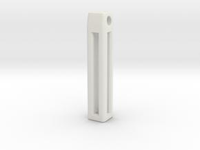 Minimalistic Tritium Pendant in White Natural Versatile Plastic