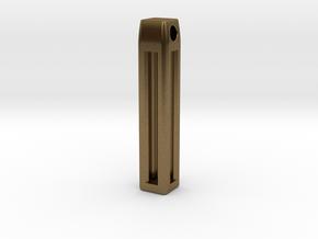 Minimalistic Tritium Pendant in Natural Bronze