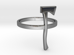 Axe Ring - Size N (6 3/4) in Polished Silver
