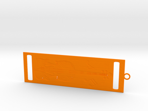 Bookmark in Orange Processed Versatile Plastic