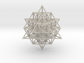 64 Tetrahedron Grid Large 190mm Isotropic Vector M in Natural Sandstone