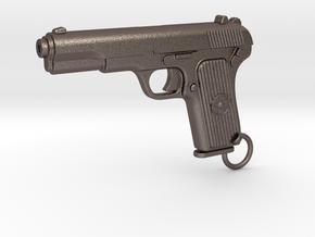 Tokarev Gun in Polished Bronzed Silver Steel