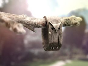 Owl ring: size 6 (US) L.5 (UK) in Stainless Steel