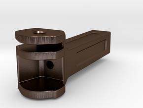 VR ACN Tender Coupler Pocket - 1' scale in Polished Bronze Steel