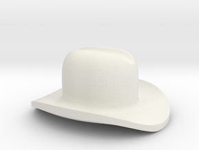 Assem1 - Cowboy Hat-1 in White Natural Versatile Plastic
