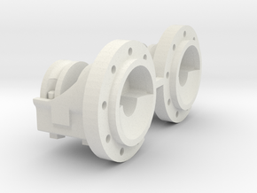 1:16 scale IH 9 bolt Dual Hubs in White Natural Versatile Plastic