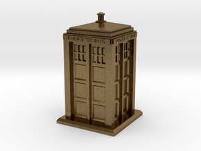 28mm/32mm scale Police Box in Natural Bronze