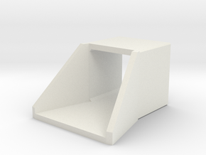 N/H0 Box Culvert Flared Headwall (size 1) in White Natural Versatile Plastic