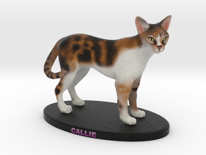 Custom Cat Figurine - Callie in Full Color Sandstone