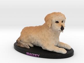 Custom Dog Figurine - Maizey in Full Color Sandstone