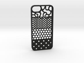 The Texture Case (Iphone 5S) in Black Natural Versatile Plastic