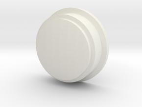 Pokeball Lens in White Natural Versatile Plastic