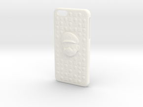 Mario Iphone 6 Plus Case in White Processed Versatile Plastic