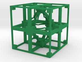 Fractal TD11 Polished Plastic in Green Processed Versatile Plastic