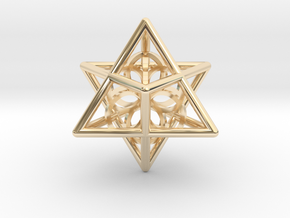 Merkaba Seed Of Life Pendant in 14K Yellow Gold