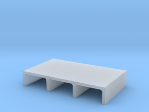 N/H0 Box Culvert Triple Tube Half Height (size 1) in Smooth Fine Detail Plastic
