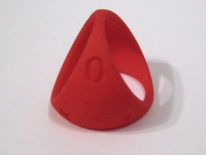 D3 Fudge Shell Dice - Gen 2 in Red Processed Versatile Plastic